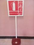 Stand for fire extinguisher 4-12 kg will label
